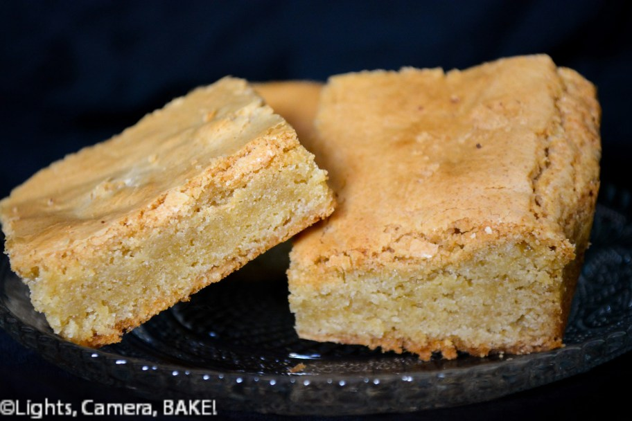 "Are they blondies or just white chocolate brownies? But a blondie is supposed to be the opposite of a brownie, so are these ""proper"" blondies? Gah, I don't know! Click the photo for more on this and the #recipe #whitechocolatebrownie"