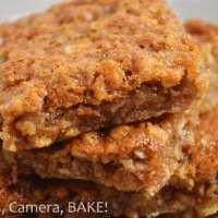 Chewy Caramel Oat Bars
