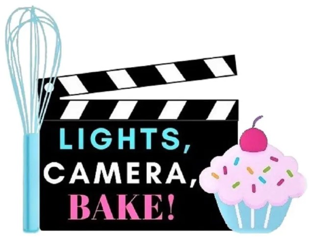 Logo for the food blog Lights, Camera, BAKE!