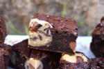 Cookie Dough Brownies are ultra fudgy chocolate brownies with pockets of safe to eat, homemade cookie dough pieces. #cookiedoughbrownies #brookies #fudgybrownies #cookiedough #brownies #ultimatecookiedoughbrownies #cookiebrownies