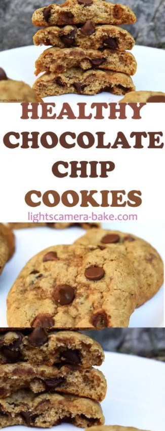 Healthy Chocolate Chip Cookiesare soft, chewy and buttery chocolate chip cookies that are gluten free, dairy free and vegan! #healthycookies #chocolatechipcookies #glutenfreecookies #dairyfreecookies #healthychocolatechipcookies #cookierecipe