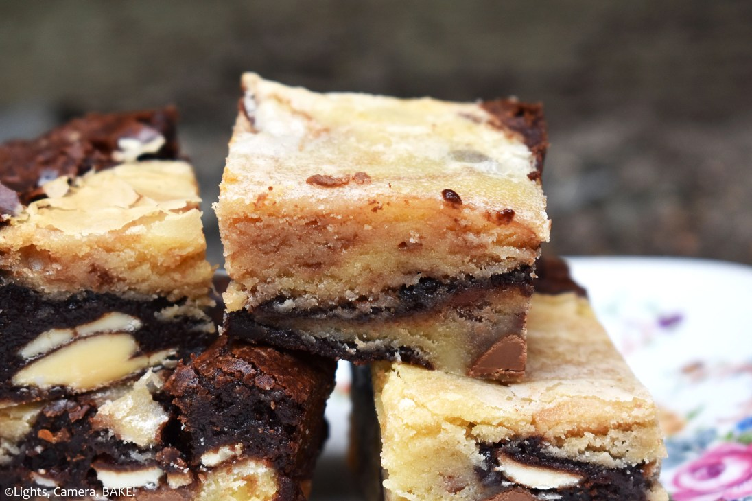 hat exactly IS a Zebra Brownie you ask? It is a chocolate brownie baked together with a white chocolate blondie/brownie, forming a combination of black and white. Hence the zebra. #whitechocolatebrownies #blondies #fudgybrownies #whitechoclateswirlbrownies #whitechocolateblondies