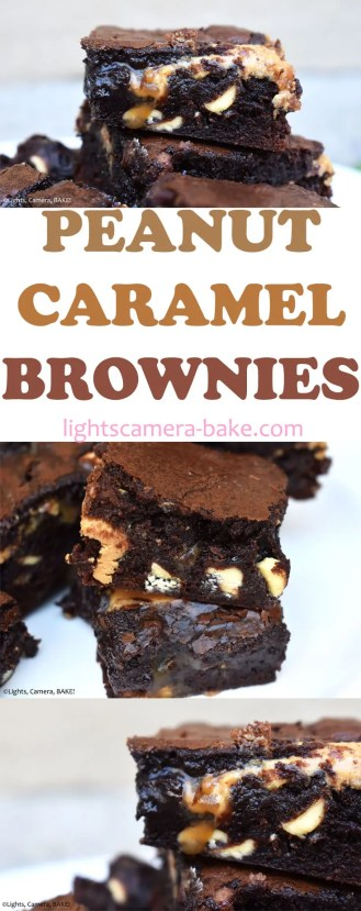 Peanut Butter Caramel Brownies: Rich and fudgy brownies filled with pockets of peanut butter and swirled with homemade caramel sauce. #peanutbutterbrownies #caramelbrownies #peanutbuttercaramel #peanutbrownies #fudgybrownies