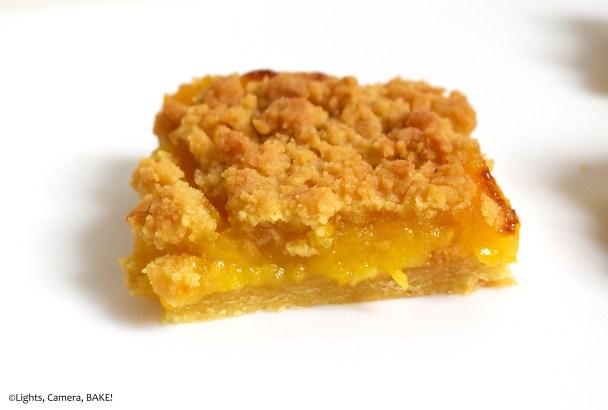 Lemon curd shortbread crumble.