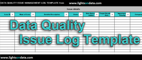 Data Quality Issue Log