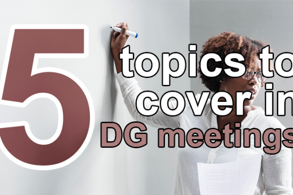 5 topics to cover in data governance meetings