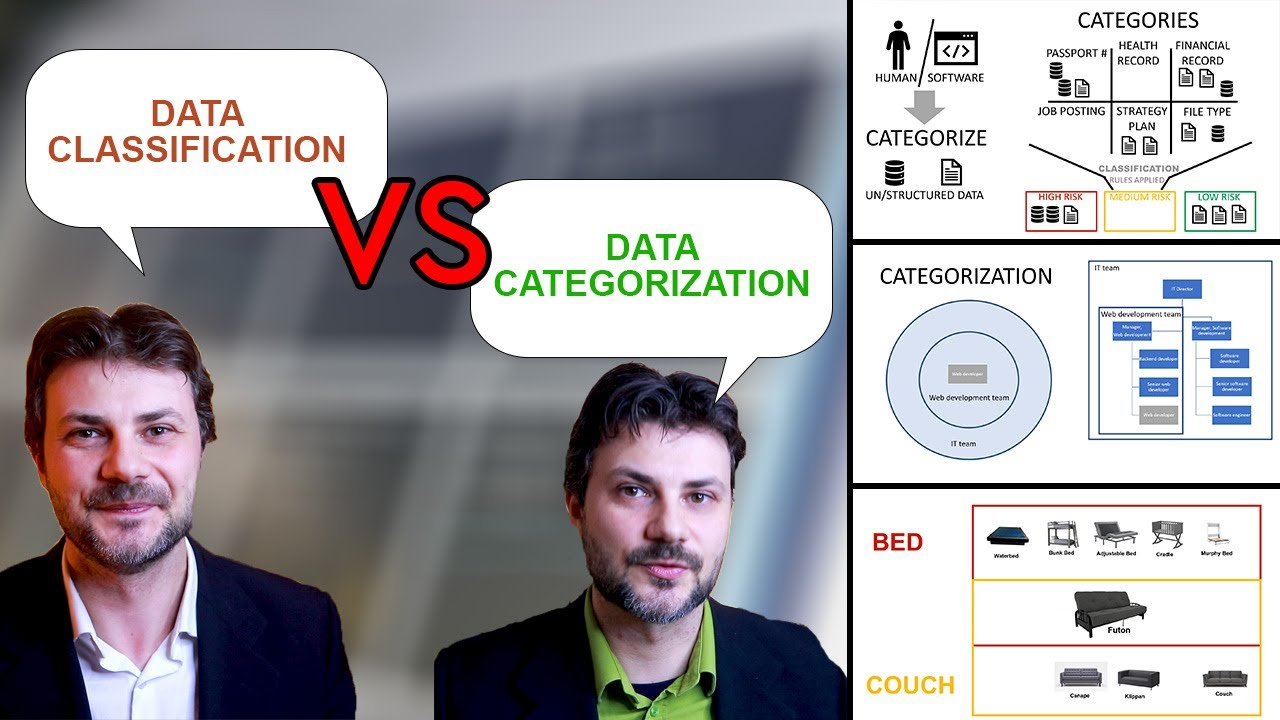what is the difference between data classification and data categorization