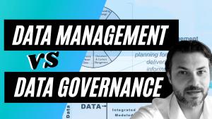 data management vs data governance