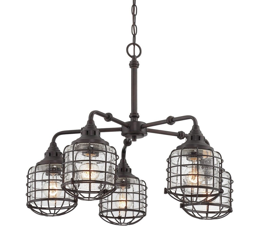Savoy House Connell 5 Light Chandelier In English Bronze