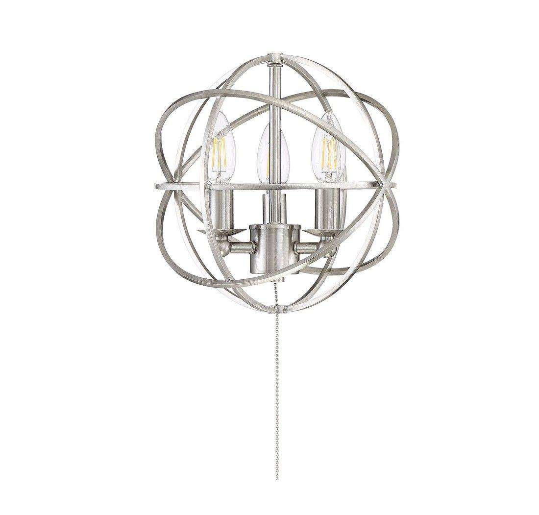 Savoy House North 10 5 3 Light Fan Light Kit In Satin