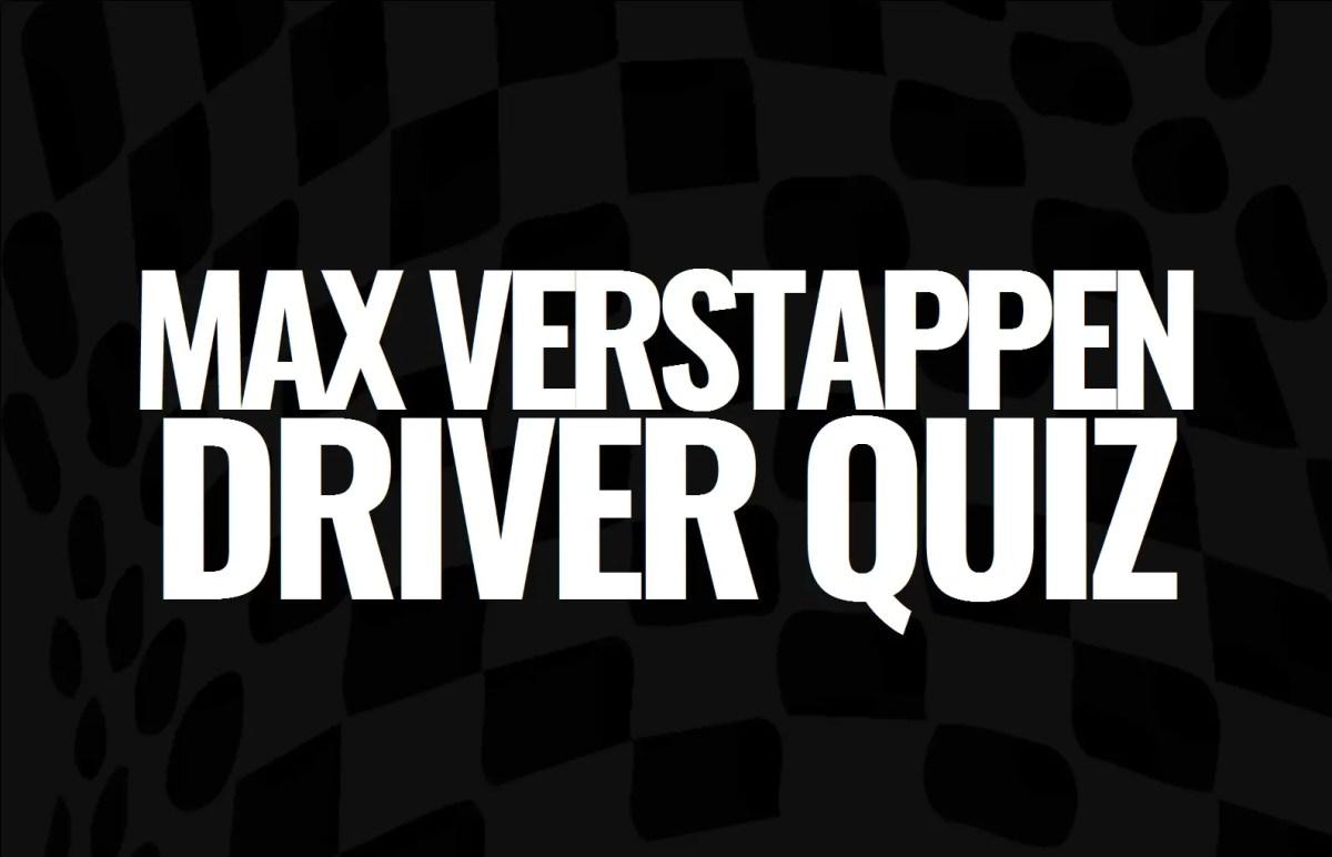 Max Verstappen Quiz