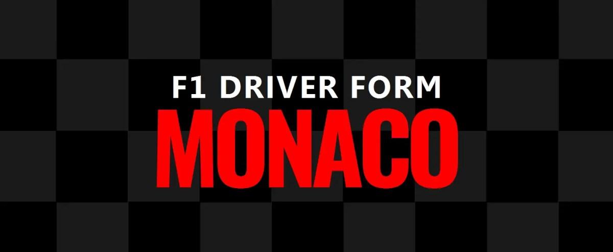 F1 Driver Form: Monaco