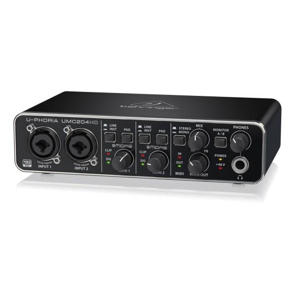 UMC204HD : Audiophile 2x4, 24-Bit/192 kHz USB Audio/MIDI Interface with Midas Mic Preamplifiers