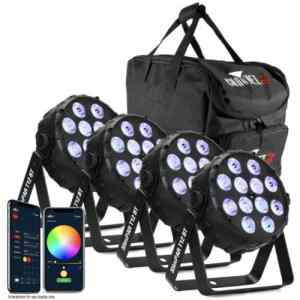 CHAUVET DJ SLIMPAR T12 BT PACK LED PAR BUNDLE