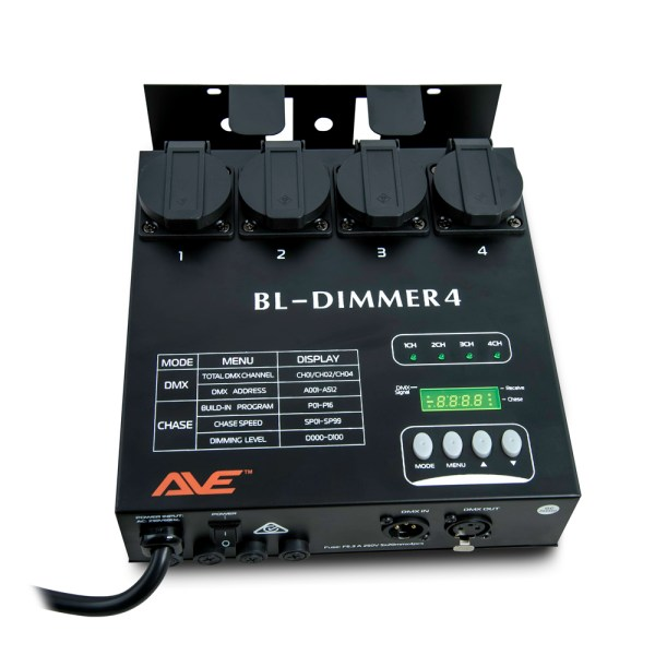 AVE BL-Dimmer4 DMX Dimmer And Chaser 4-Channel