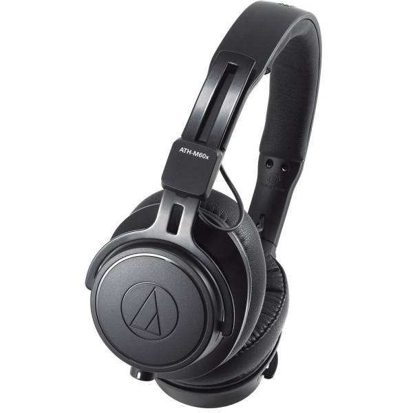 Audio Technica ATH M60x Professional On-Ear Studio Headphones (Black)