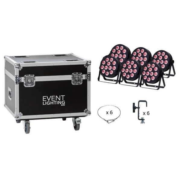 Event Lighting wash package in road case