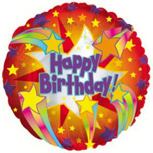CTI 45cm Foil Happy Birthday Helium Balloon