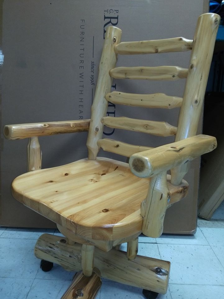 Silent Auction 2019  handcrafted wooden office chair