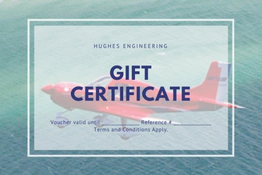 Gift Certificate Hughes Engineering