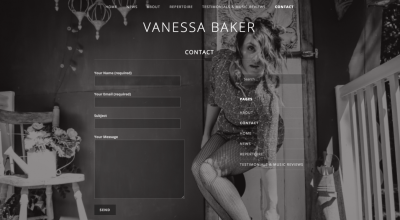 Hughes Engineering Web Design - Vanessa Baker Musician Contact Page