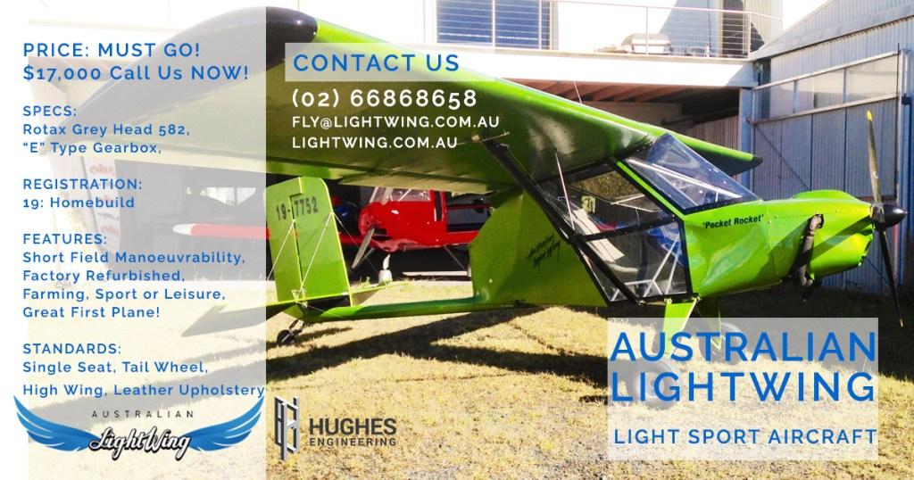 Australian LightWing Pocket Rocket Aircraft Information