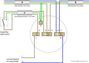 Radial circuit light wiring diagram | Light wiring