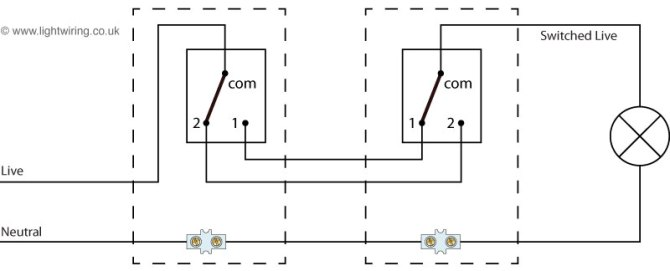 2 way switch wiring diagram  light wiring