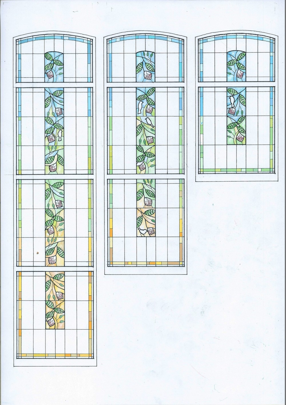 New Bespoke Stained Glass For 1920 S Staircase Window | Stairs Window Glass Design | Classic | Foreign Window | Simple | Stairwell | Grill