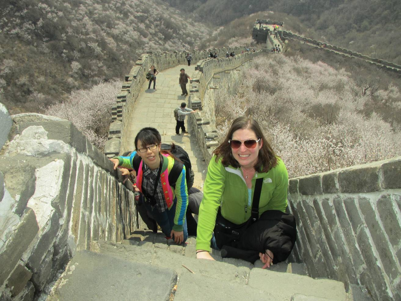 Going up a passage of steep steps. This felt more like climbing a ladder than a staircase.