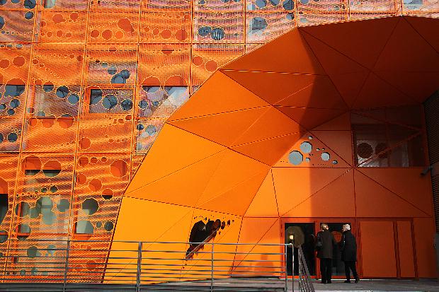 Lyon Confluence, bureaux Cube Orange - Architecte : Jakob et Mac Farlane - Photo : Vincent Laganier
