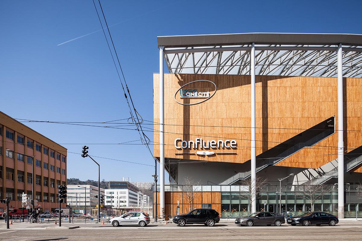 Pole commercial Confluence, Lyon, France - Architecte : Jean Paul Viguier - Photo : Renaud Chaignet