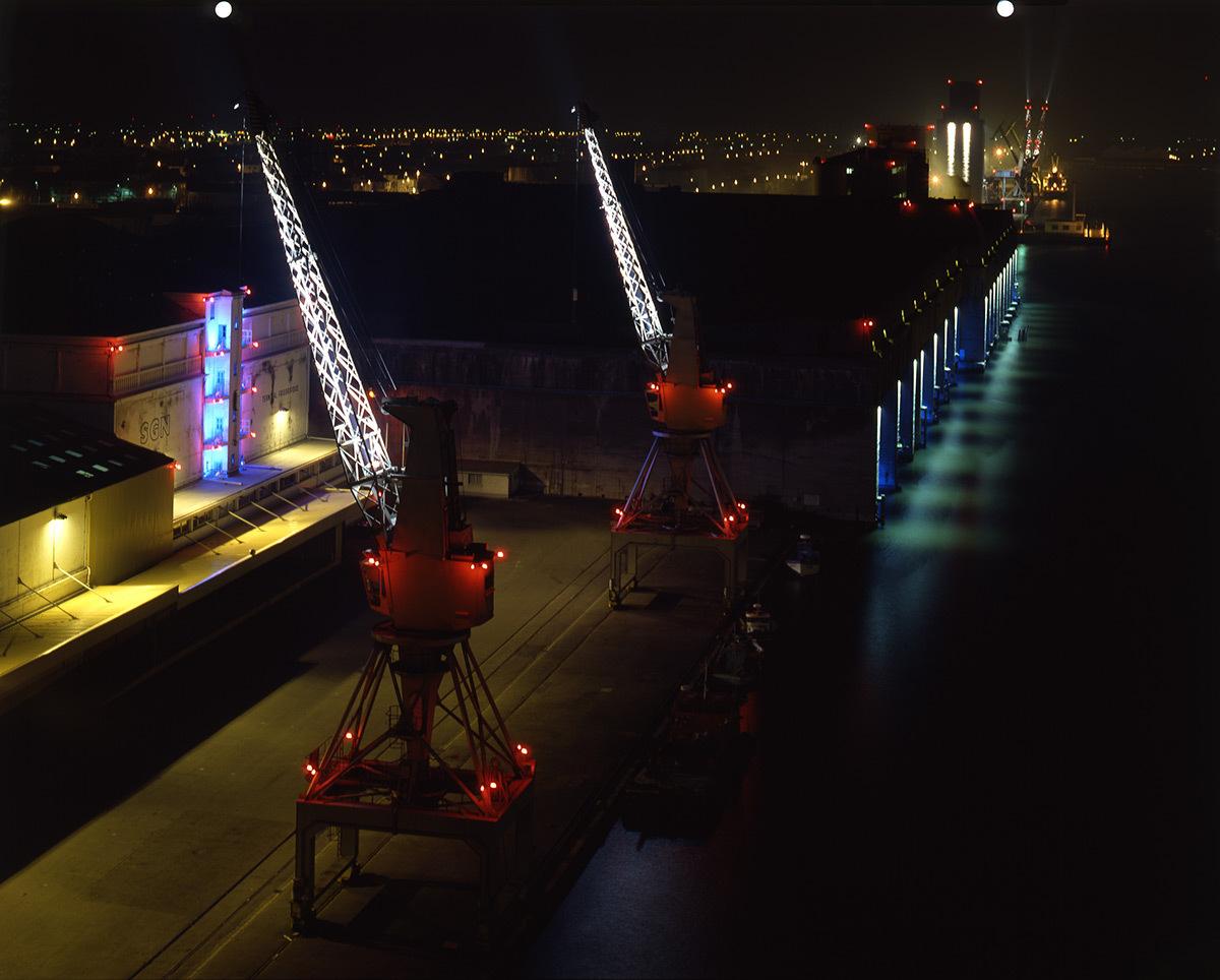 « Nuit des Docks » – Base sous-marine, Port de Saint-Nazaire, France