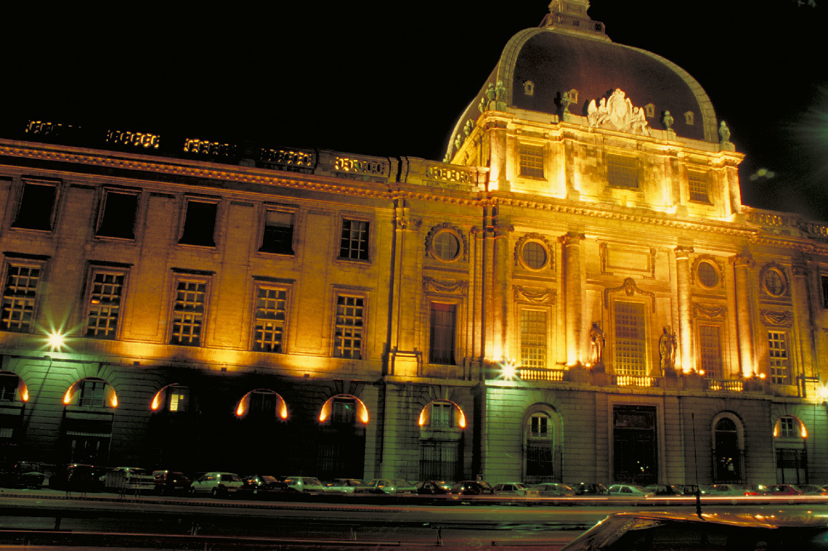 Façade Rhône de l'Hôtel Dieu, Lyon