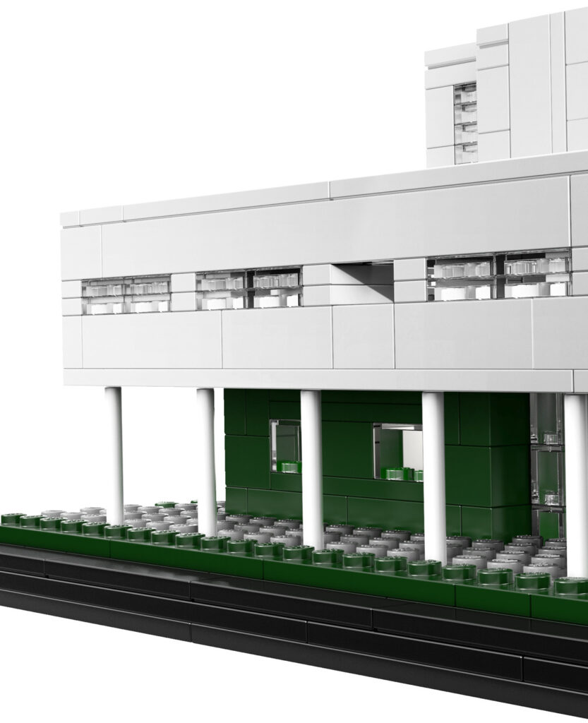 Détail de la maquette, Villa Savoye de Le Corbusier à Poissy, France - Artiste : Michael Hepp - Collection : LEGO Architecture