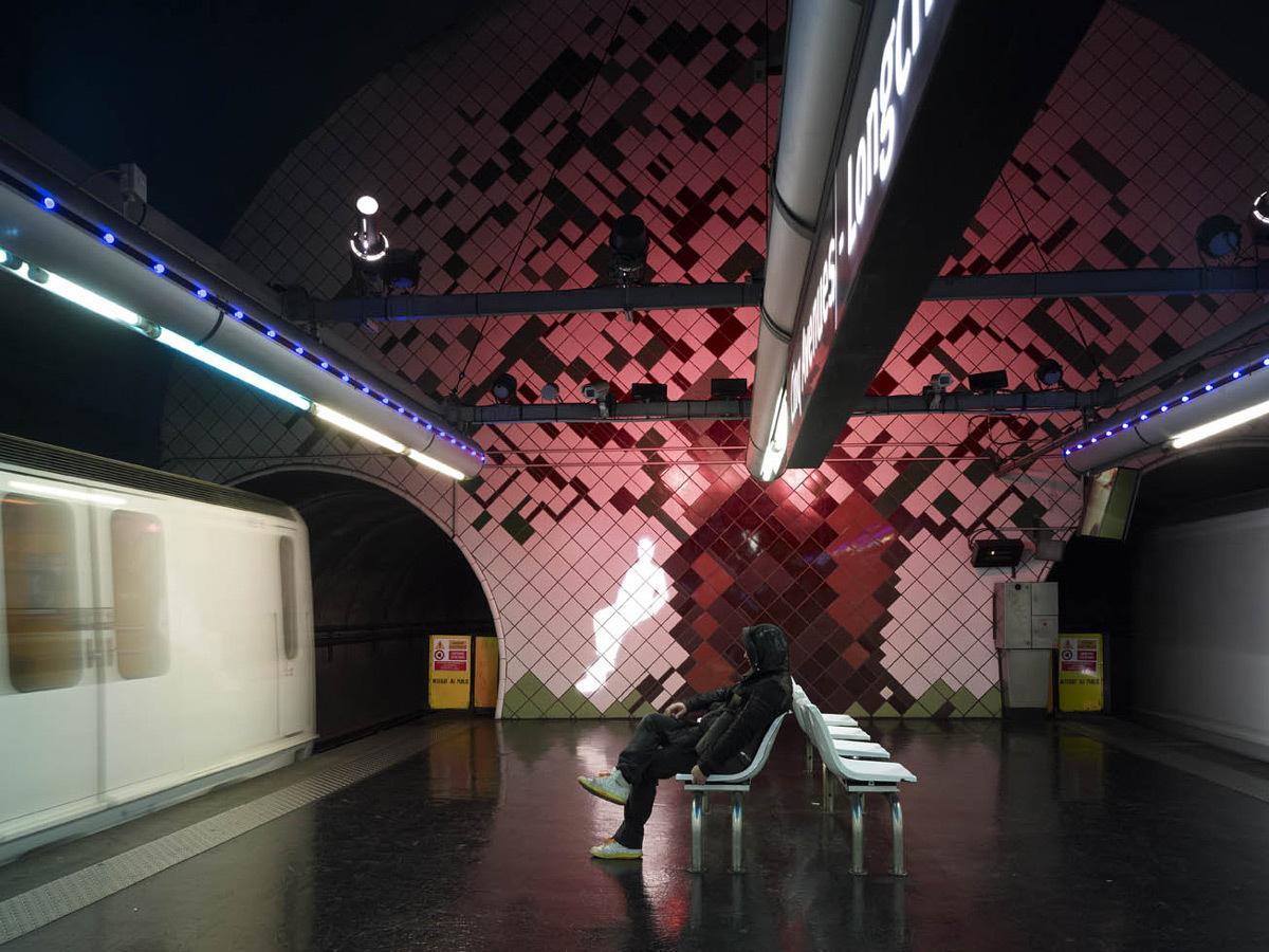 Station de métro de Marseille, RTM - Concepteur lumière : Aurélien de Fursac - Photo : Gilles Framinet