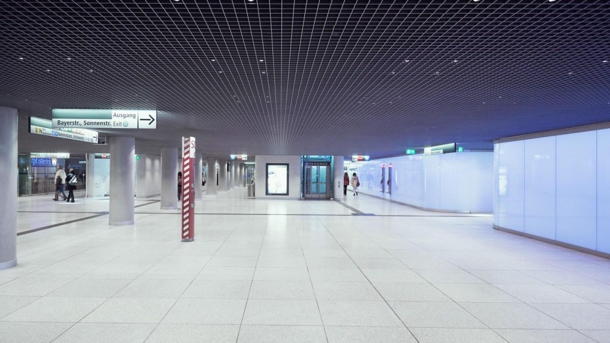 Gare centrale de Munich, Allemagne - Conception lumière : Christian Vogt, agence Vogt & partner