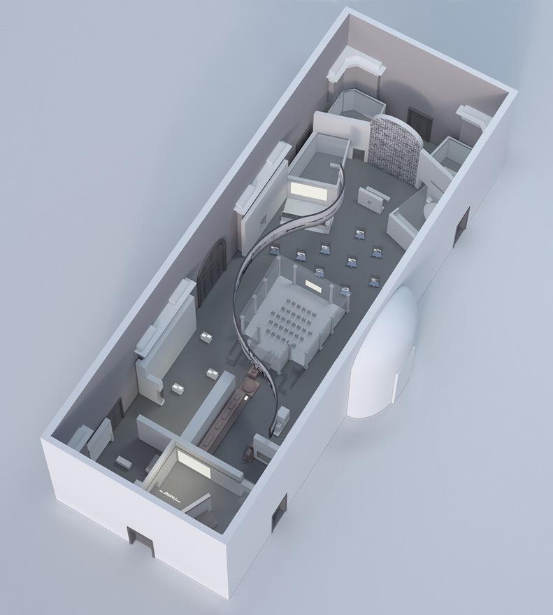 Lumière ! Le cinéma inventé - Axonométrie 3D de l'exposition - Lumière - Scénographie et dessin : Agence NC