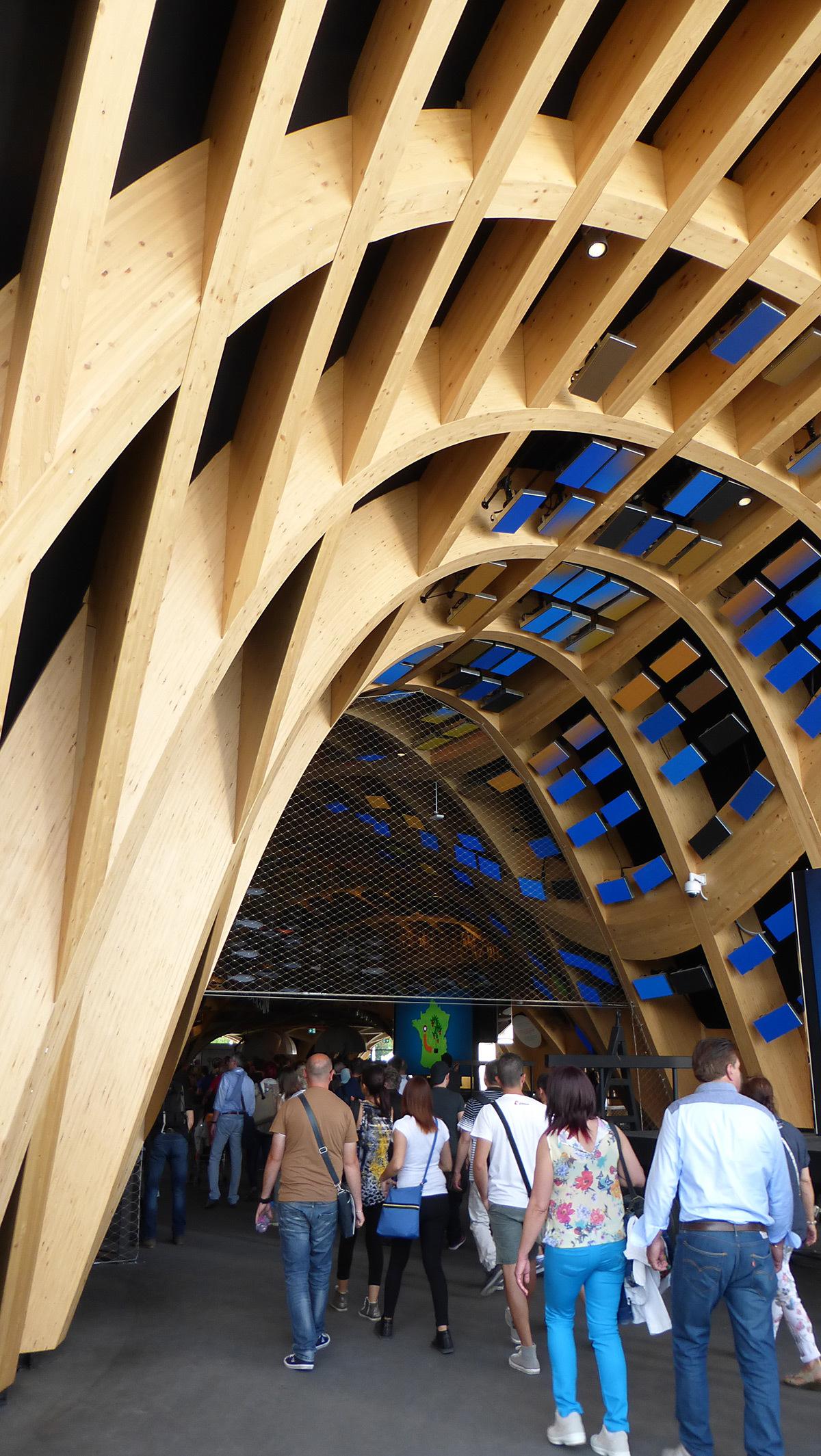 Expo 2015, Pavillon France, Milan, Italie - Entrée architecture - Architectes XTU - Scénographie Adeline Rispal - Conception Lumiere Licht Kunst Licht - Photo Vincent Laganier