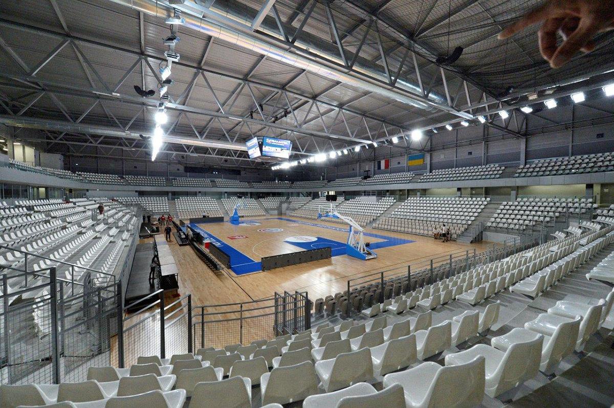 Configuration basket - Salle sportive métropolitaine, Rezé, France - Architectes Chaix & Morel et Associés - Photo Nantes Métropole