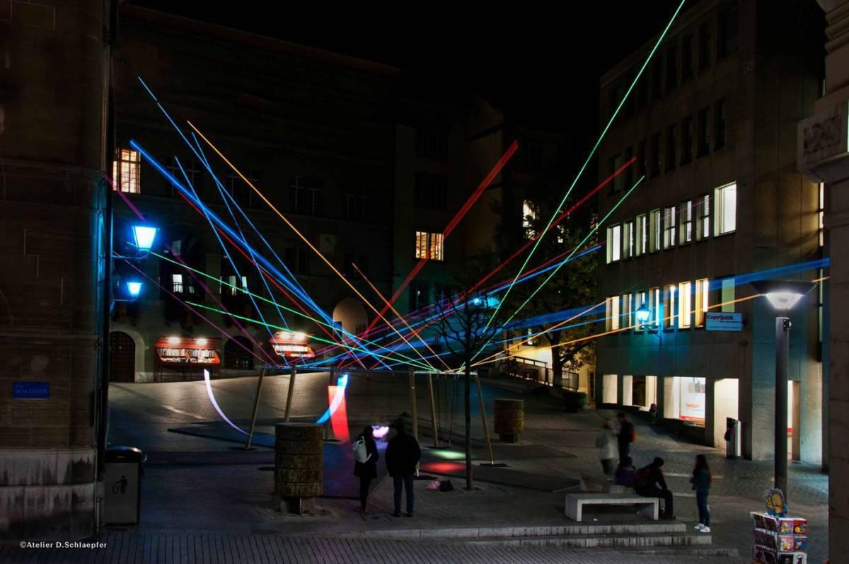 Balancez les lumières, Place de la Louve, Lausanne © Atelier D. Schlaepfer