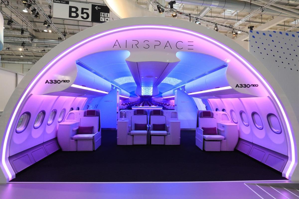 Airbus - Maquette de la cabine Airspace de l'A330neo © Airbus