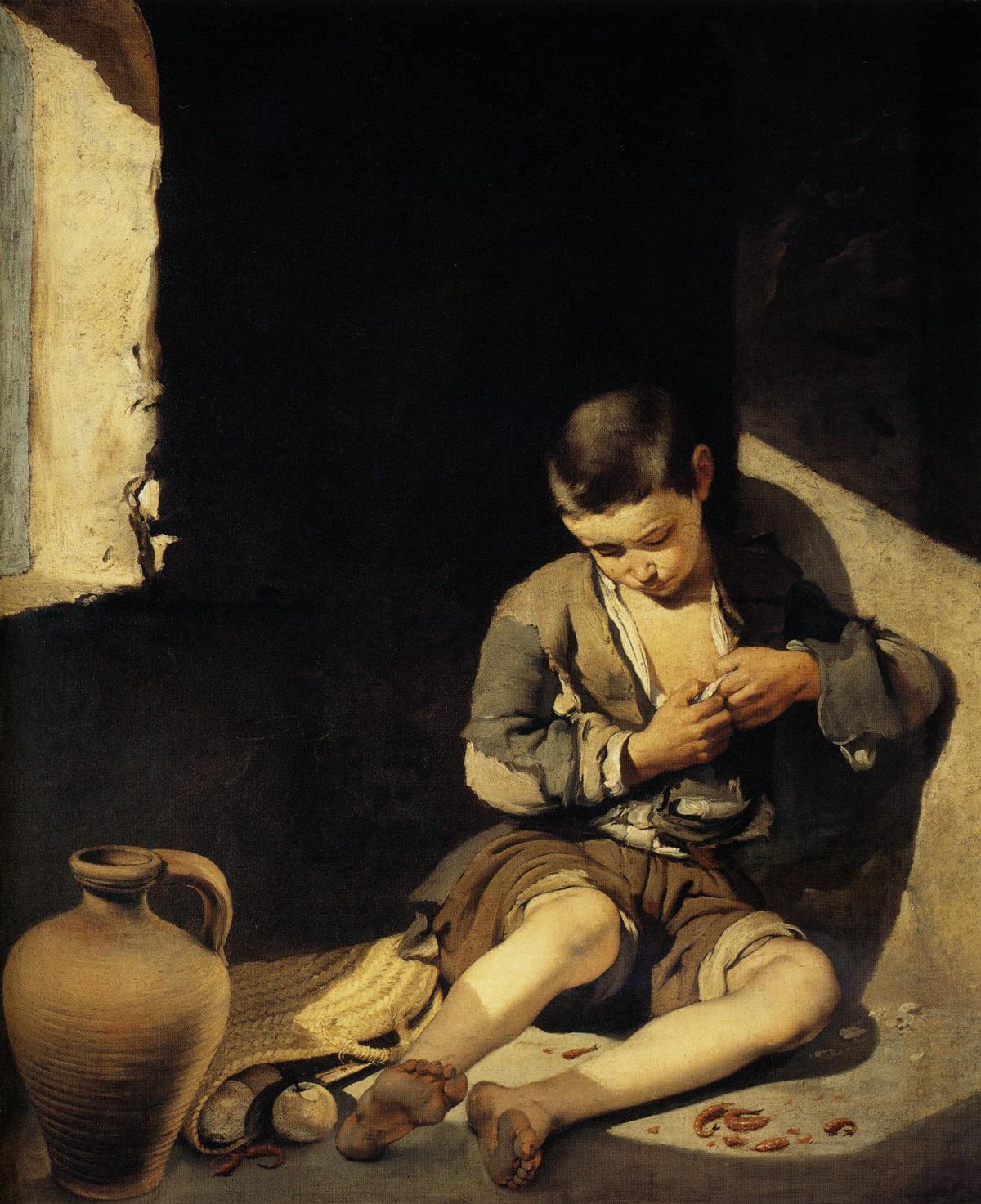 Bartolome Esteban Murillo, Le jeune mendiant © Collection du Musée du Louvre, Paris - Wikipédia