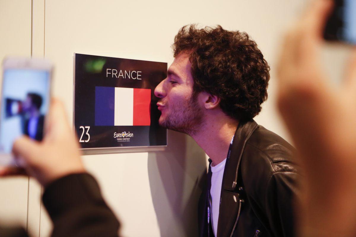 Amir - France - arrive dans sa loge de l'Eurovision 2016 à Stockholm © Thomas Hanses (EBU) (2)