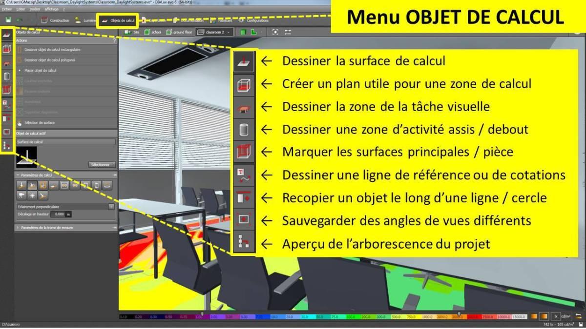 DIALux-evo-6-menu-4-objet-de-calcul-en-francais-Vincent-Laganier-Light-ZOOM-Lumiere