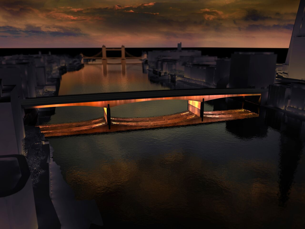 London Bridge, Londres, UK © MRC and Leo Villareal and Lifschutz Davidson Sandilands