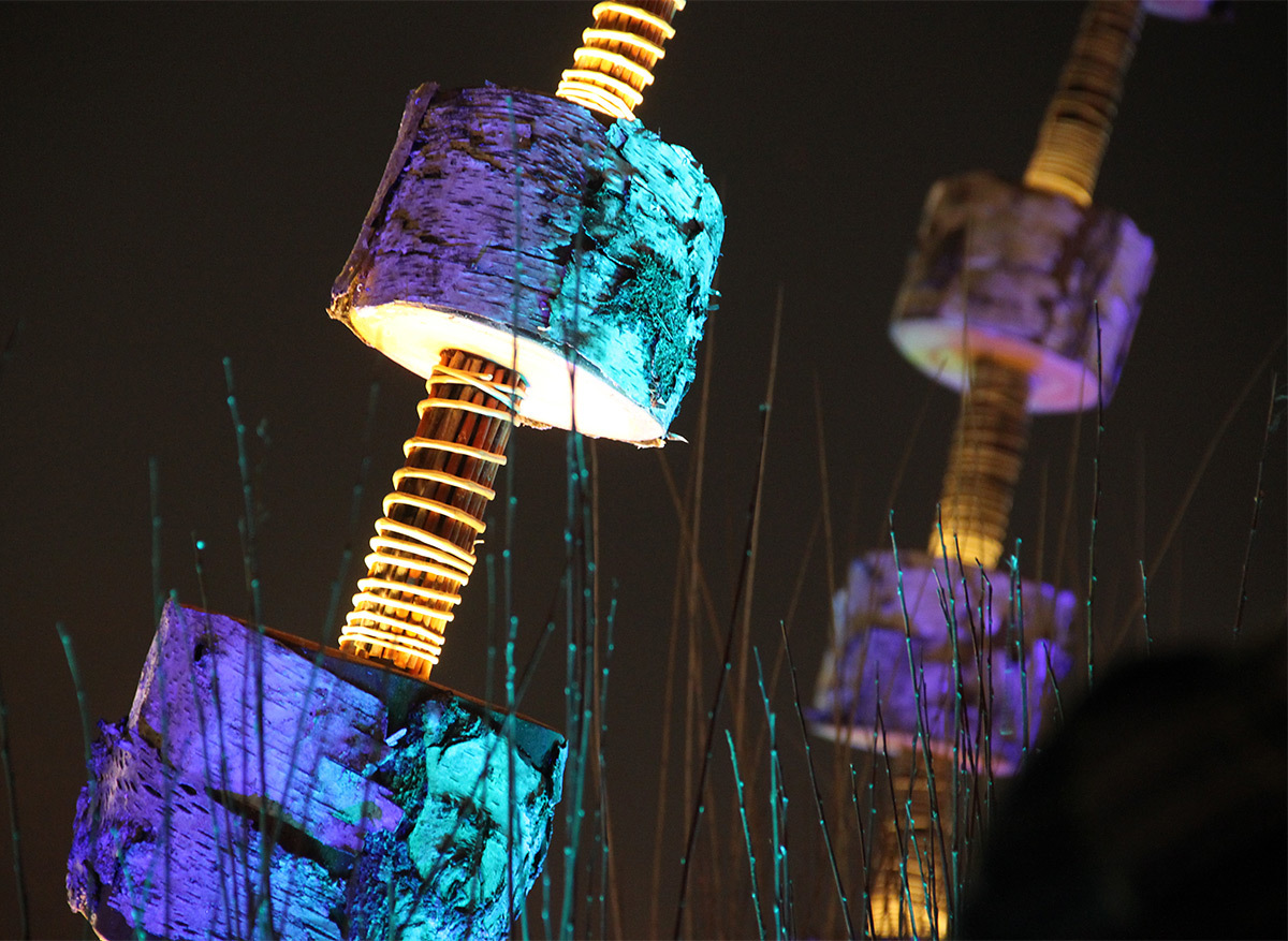 Arbore-lum, Place Louis Pradel - Erik-Barray - Fête des lumières 2016, Lyon, France - Photo : Vincent Laganier