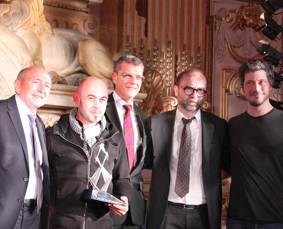 Prix du Club des partenaires 2016 à Jérôme Donna et Simon Milleret-Godet, DEP, ville de Lyon - Fête des lumières 2016, Lyon, France - Photo : Vincent Laganier