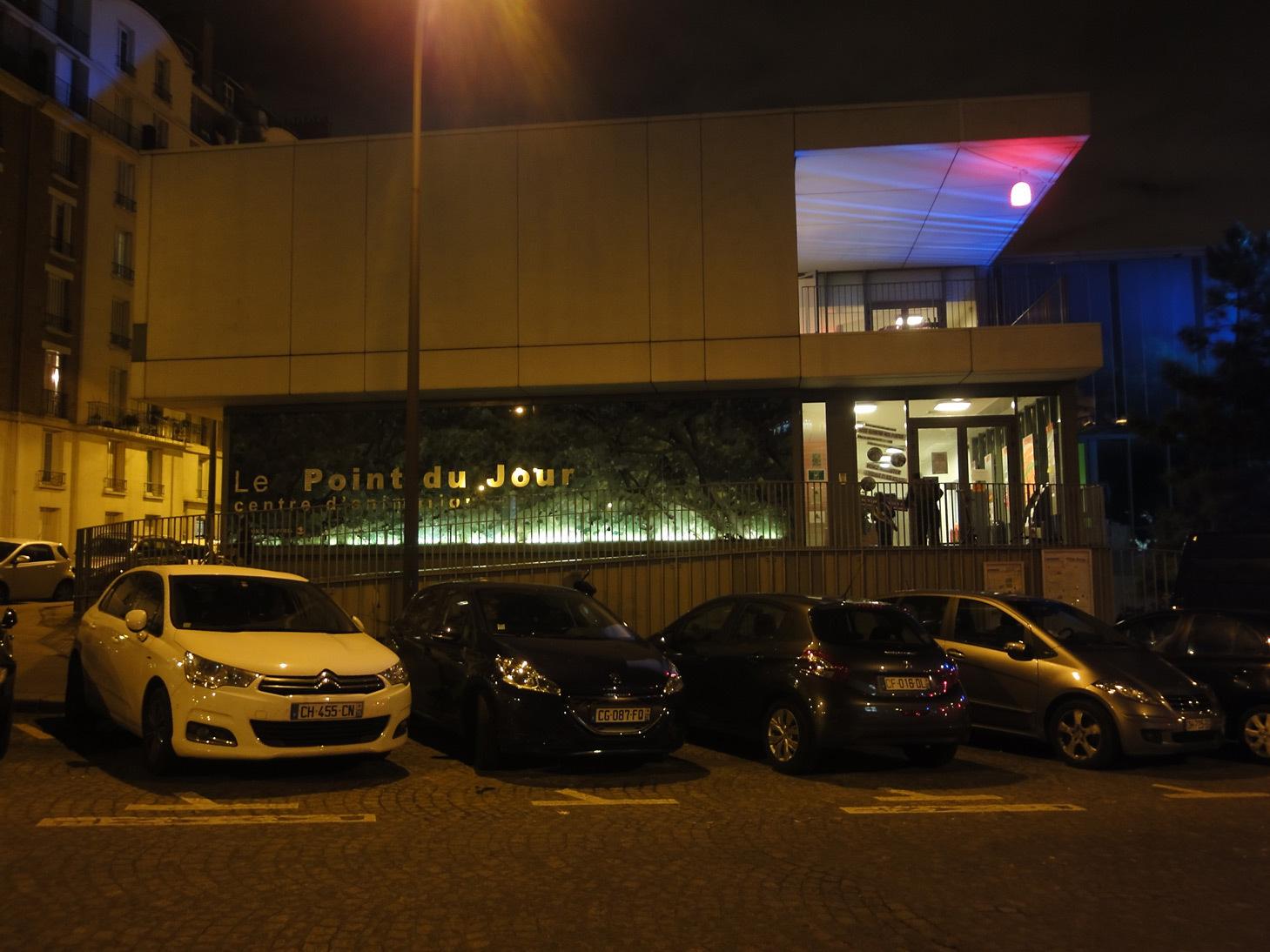 Centre d'animation point du Jour, Paris, France - Conception lumière : Concepto - Bureau d'études : EVESA - Photo : Concepto