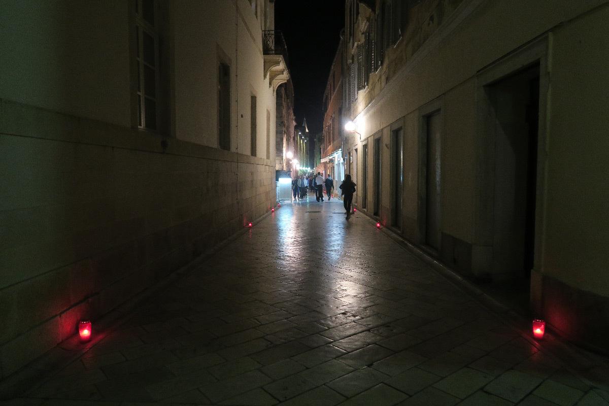 Ambiances nocturnes de la vieille ville de Zadar